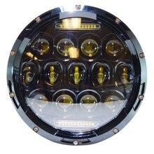 "JAER 7"" 65W LED Headlamp Motorcycle Headlight for Harley Fat Boy FLSTF Lo FLSTFB Touring Trike Softail"
