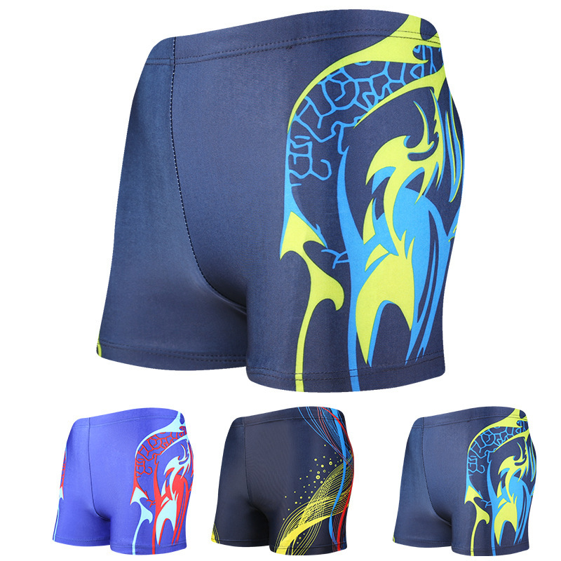 Men's Bathing Suit Swimming Industry Training Lace-up Loose Comfortable Anti-Awkward Swimming Trunks Spa Resort Yk201616