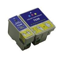 T038 t039 cartuchos de tinta substituição para impressora epson cartucho stylus c41 c41ux c43ux sx c45 cx1500v impressoras a jato tinta