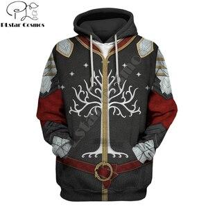 Дерево Гондора наклейка наклейки на заказ толстовки одежда для мужчин/женщин Harajuku модная Толстовка Косплей Повседневная куртка DW0036