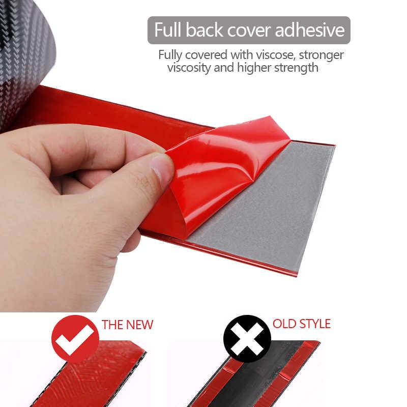 Stiker Mobil Serat Karbon Karet Diy Pintu Sill Anti-Gores Pelindung Stiker Edge Guard Mobil Styling Moulding Strip Aksesoris