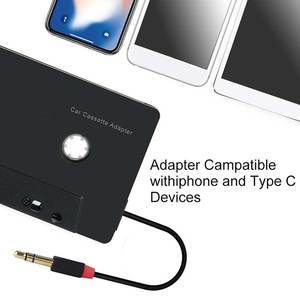 Aux Тип C смартфон 3,5 мм Вход ABS кассеты адаптер мини четыре канала Автомобильный аудио конвертер Универсальный стерео Bluetooth