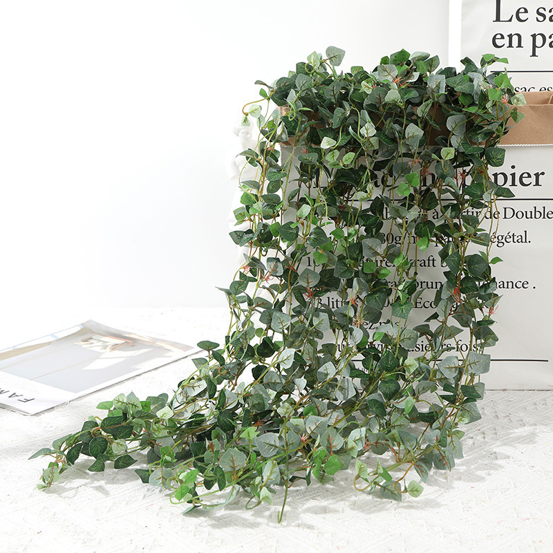 80CM Artificial Ivy Leaf Eucalyptus Leaves Home Decor Wedding Decoration Plants Plastic Green Long Vine Fake Foliage Handmade