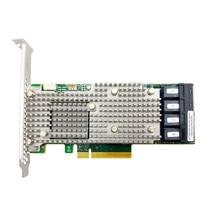 LSI Broadcom MegaRAID 9460 16I ثلاثي الوضع SAS/SATA/NVMe 05 50011 00 12gbit 16 Port ؛ أربعة x4 داخلي SFF8643 ؛ PCI E3.1 X8 4G ذاكرة التخزين المؤقت