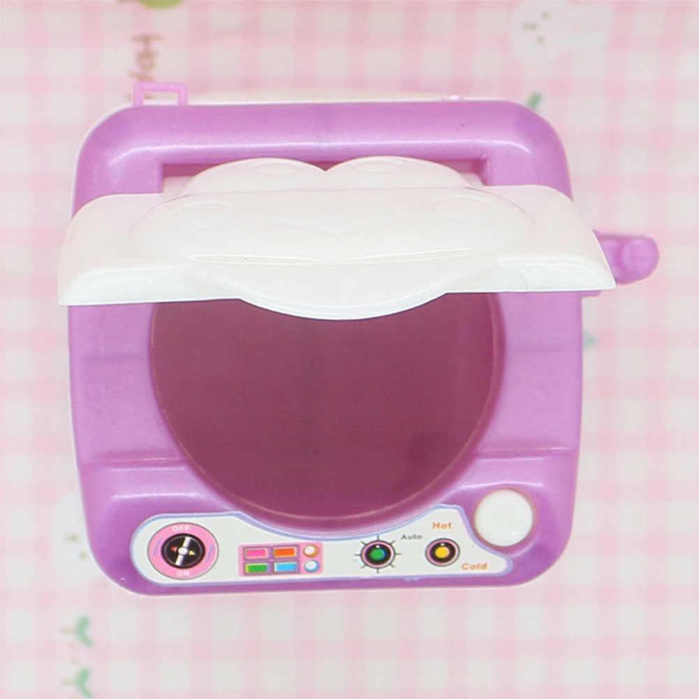 لطيف سيليكون دمية غسالة غسالة صغيرة بيت الدمية مكونات الاثاث للدمى عالية ألعاب الأطفال هدية