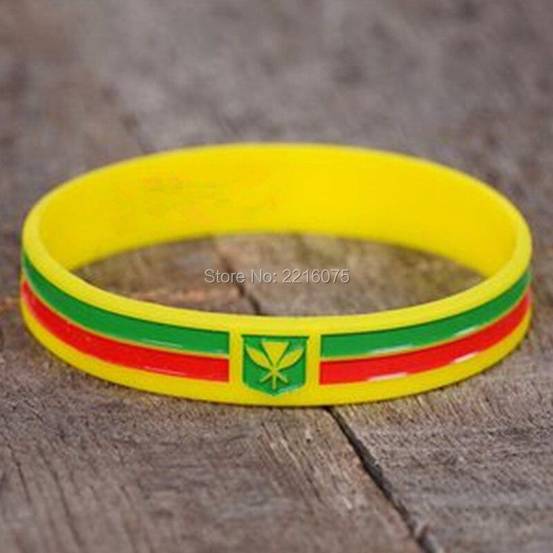 300 stücke Kanaka Maoli Hawaii Flagge Motivations armband silikon armbänder freies verschiffen durch DHL A-in Manschette Armbänder aus Schmuck und Accessoires bei  Gruppe 1