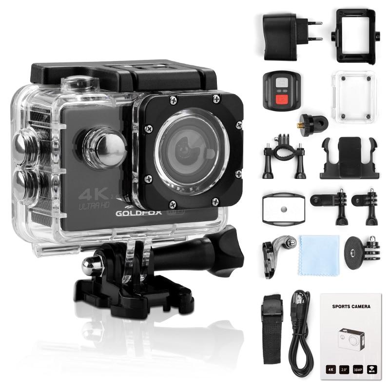 Экшн-камера Ultra HD 4K, Wi-Fi, 12 МП, 2 дюйма, 30 м