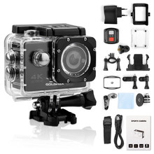 Ultra HD 4K Action Camera WiFi 12MP 2 Inch 30M Go Waterproof Pro 170D Helmet Bicycle Video Recording Camera Sports Cam