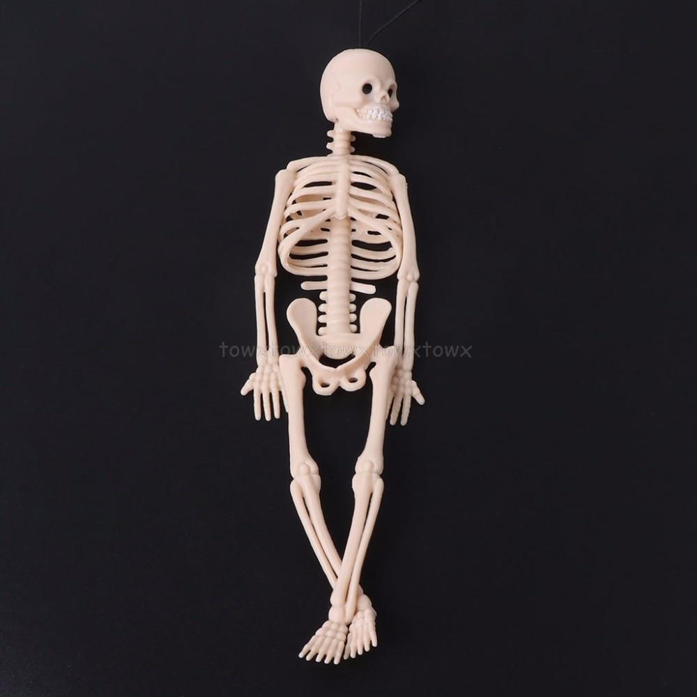Skeleton Human Model Skull Full Body Mini Figure Toy Phone Hanger Halloween N15 19 Dropship