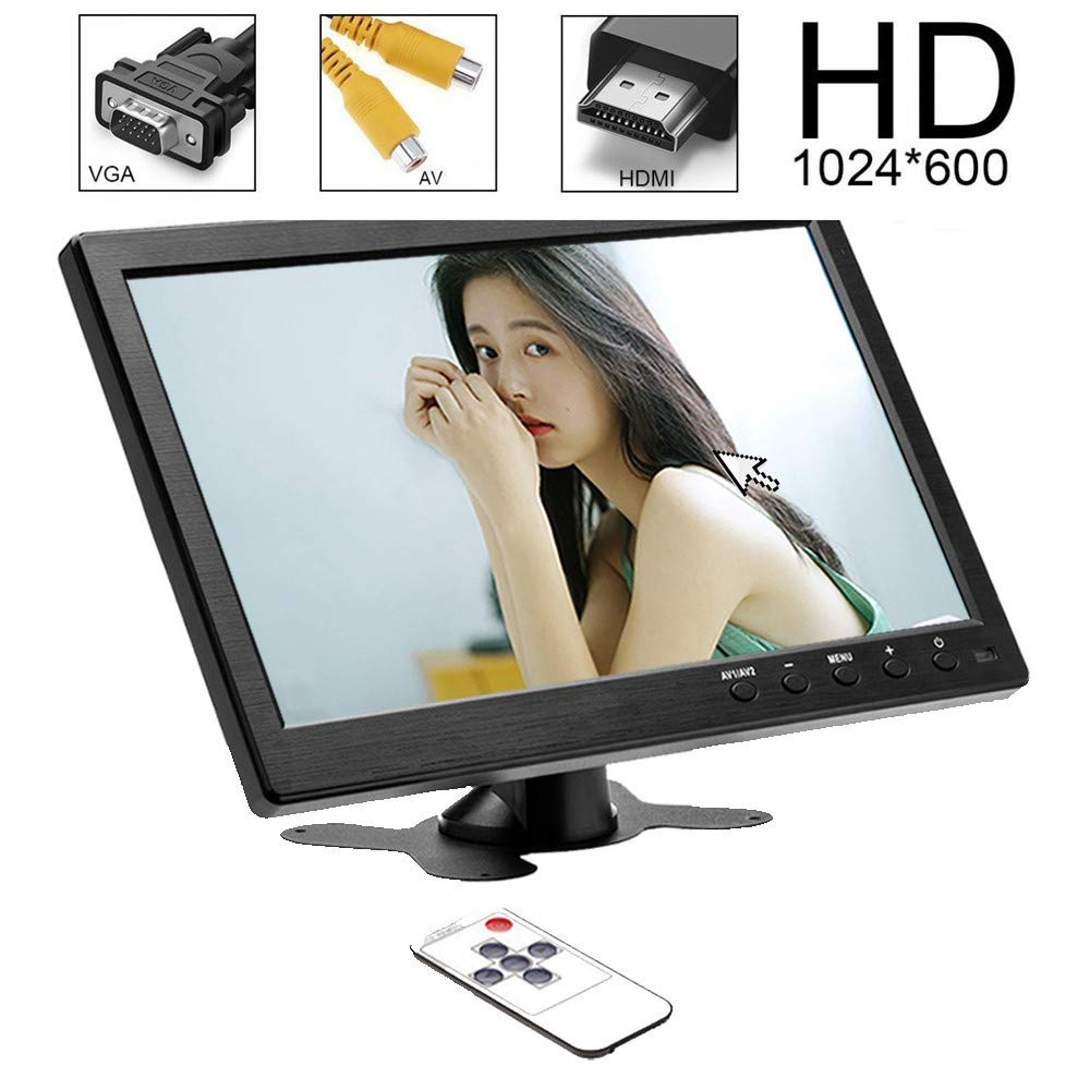 10 pouces moniteur HDMI LCD ordinateur HD moniteur VGA léger moniteur Portable BNC pour PS4 PC ordinateur voiture utilisation écran Portable