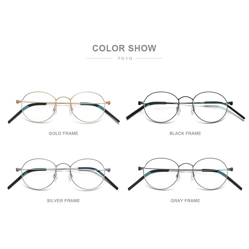 Closeout DealsFONEX Prescription Eyeglasses Screwless Eyewear Myopia Morten Korean B Titanium Women