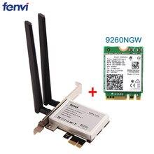 Настольный беспроводной адаптер PCI E 1X с 1730 Мбит/с Wifi сетевой картой 9260NGW для Intel 9260 Bluetooth 5,0 для Windows 10