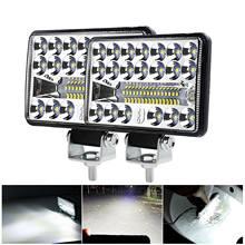 2021 nueva luz de trabajo Led coche doble lámpara 60 w resaltar Off-Road coche de techo reflector mantenimiento lámpara auxiliar de la linterna del coche