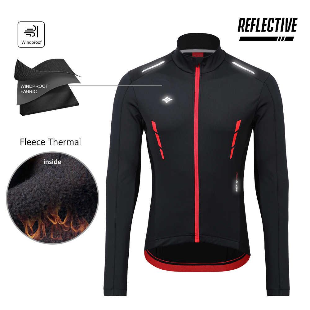 산티크 남자 사이클링 자켓 겨울 윈드 브레이커 MTB 코트 자전거 자켓 따뜻한 통기성 반사 아시아 크기 M-4XL K9M5112R 유지