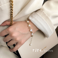 Baloko natural pearl small pure and fresh bracelet for women Korean version simple personality bracelet sweet bracelet for women