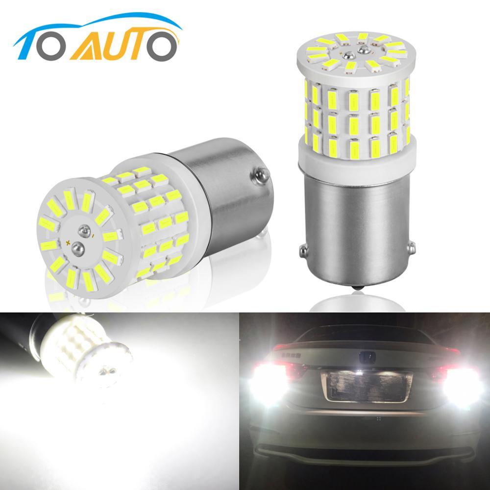 2X 33 SMD LED BA15D P21W 1157 Vehicle Car Backup Reverse Head Light Bulb White