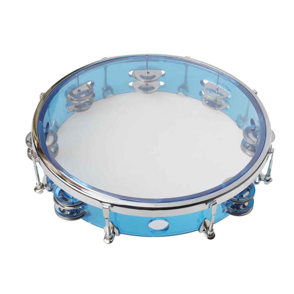 Tambourine With 6 Pairs Of Metallic Jingles, For Any Party, Dance 268x268x55 Mm