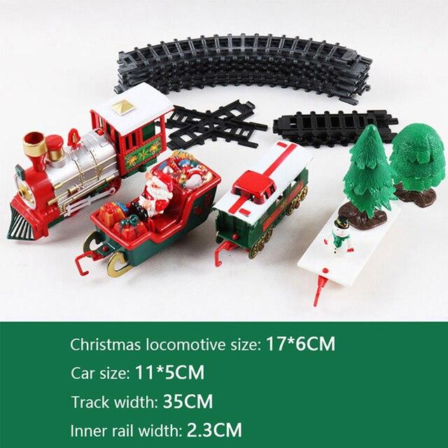 Christmas Electric Rail Car Train Toy Children's Electric Toy Railway Train Set Racing Road Transportation Building Toys 282539 5