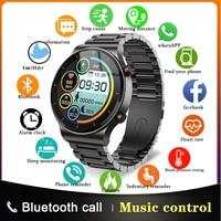 Reloj inteligente deportivo para hombre, pulsera con Monitor de ritmo cardíaco, Bluetooth, llamadas, TWS, música, para Samsung, Huawei, Xiaomi e IOS, 2021