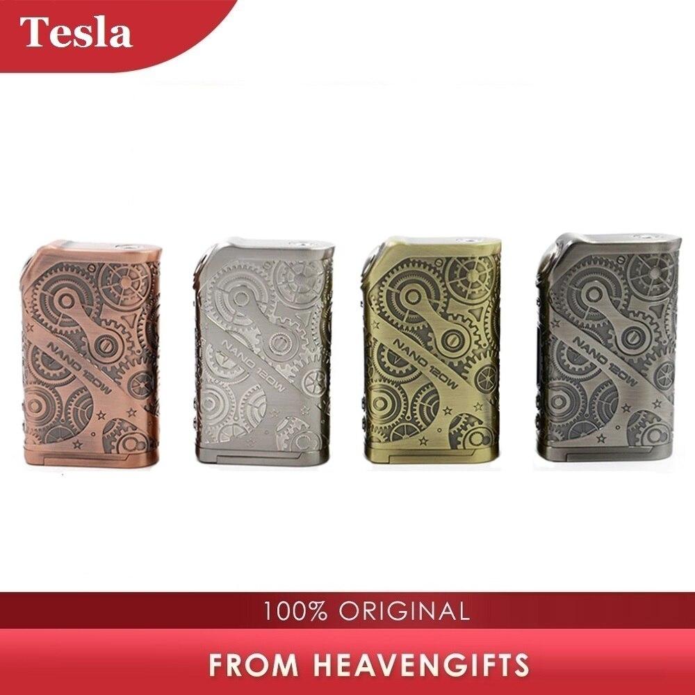 Caixa MOD Tesla originais Nano 120W TC N ° 18650 Estilo Punk & Função de Memória Da Bateria Cigarro Eletrônico Mod VS tesla Punk/Arrastar 2