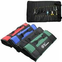 Портативное Автомобильное оборудование сумка для хранения инструментов рулон плоскогубцы отвертка Гаечный ключ чехол сумка катушки карман