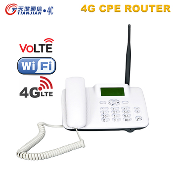 Mobile 4G wifi router unlocked voice call telephone volte landline wifi hotspot desk sim card slot fixed phone external antenna