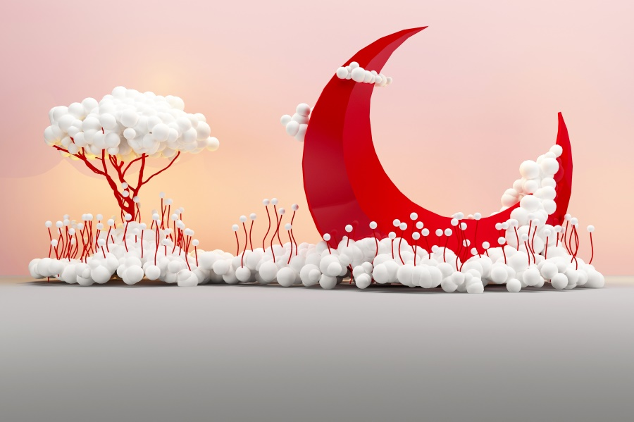 Laeacco Moon Tree Foam Cloud Baby Shower Photo Backgrounds Birthday Personalized Portrait Photography Backdrops For Photo Studio