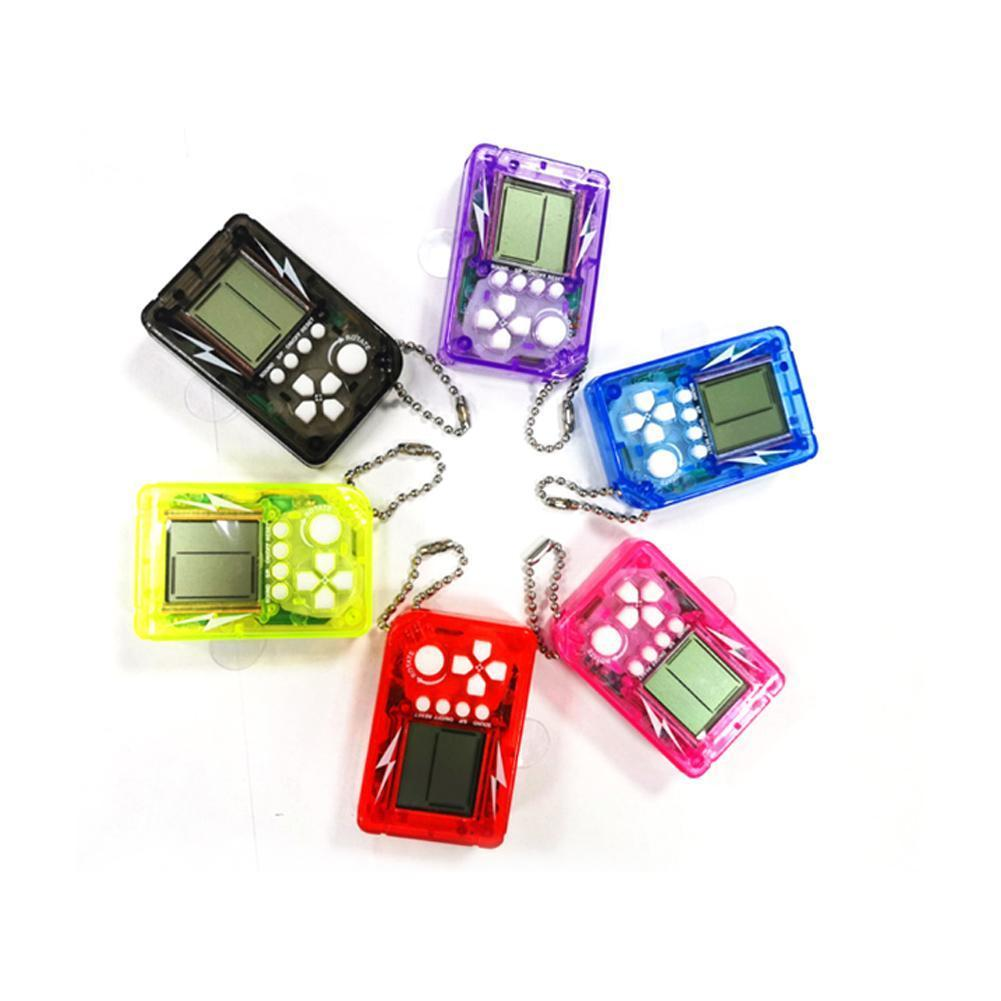 Mini Classic Game Machine Children's Handheld Retro Nostalgic With Mini Video Keychain Console Game Game M6T5