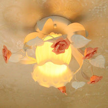 Warm flowers pastoral porch lamp hallway lights cloakroom ceiling lamp(China)