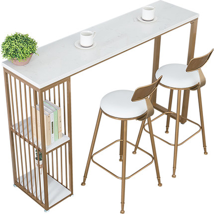 Nordic Marble Bar Table Household Simple Kitchen Living Room Partition   High Foot  And Chair Combination Wine Cabi