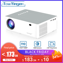 TouYinger M19 M19K mejor LED de cine en casa Video proyector LED Full HD 1080P 6800lumen AV FHD 3D película proyector HDMI USB proyectores de datos
