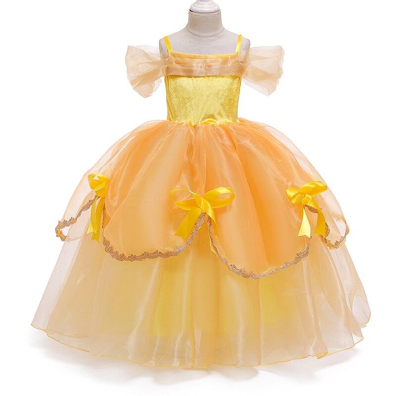 Princess Costume Little Girls Cosplay Dress Children's Disfraz Robe Kids Halloween Clothes 3