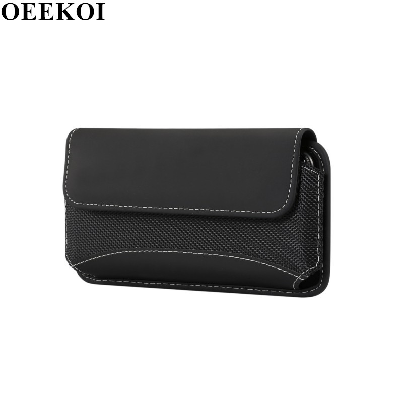 OEEKOI Universal Durable Oxford Cloth Belt Clip Pouch Case for Vivo Y53i Y53 Y51e X7 V3