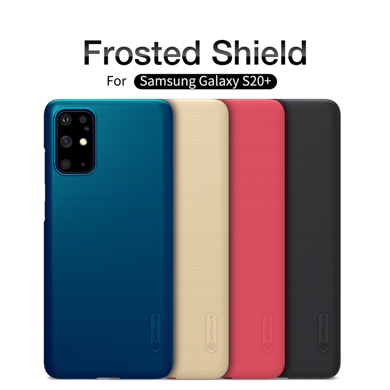 För Samsung Galaxy S20 Ultra Case NILLKIN Frosted Shield Back Cover För Samsung Galaxy S20 S10 S9 S8 Plus Case Gratis telefonhållare