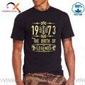 2020 Лидер продаж Модные Одежда высшего качества футболки для мужчин с круглым вырезом жизнь начинается в шестьдесят пять 1973 рождение легенд...
