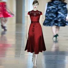 Женское модельное платье gedivoen винтажное трапециевидной формы