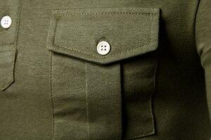 Image 4 - Nuovo Codice Europeo 2019 Autunno Risvolto di Polo a maniche lunghe Camicia di Alta Qualità Vento Militare Tasca Decorativo Camicia