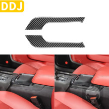 Trim-Sticker Charger Car-Accessories Cup-Holder-Cover Decorative Right Carbon-Fiber