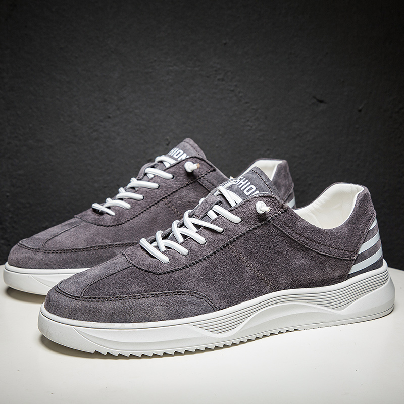 Fashion Sneakers Men Shoes 2019 New Winter Casual Shoes Outdoor Fashion Men Flats Genuine Leather Casual Shoes
