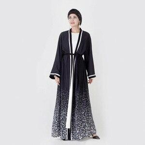 Muslim fashion abaya women's long robe female Muslim kimono open abaya cardigan islamic clothing dubai turkish dresses MSL838