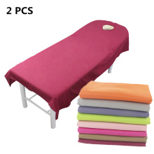 2PCS high-quality Professional Cosmetic Beauty salon sheets SPA massage treatment bed table cover with hole