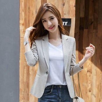 PEONFLY Fashion Women Blazer 2020 Spring Casual Blazers Lady Office Work Pockets Jackets Coat Slim Women Blazer Femme 1
