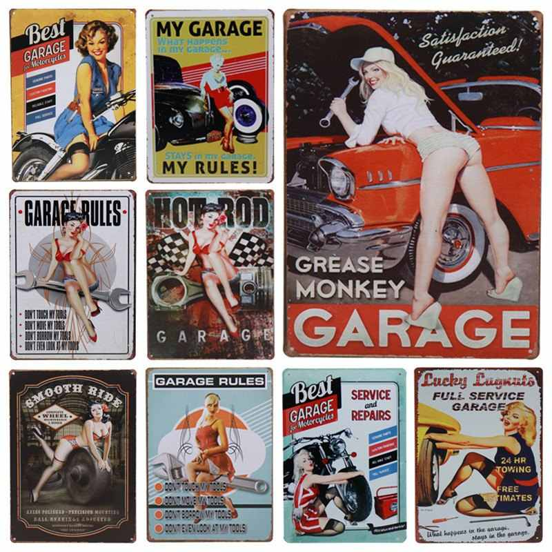 30X20cm Vintage Metal Tin Signs Retro Plaque Poster Bar decoration Pub Club Wall Tavern Garage Home Decor Plate Art Craft H20