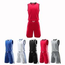Профессиональная мужская и детская трикотажная баскетбольная форма, тренировочный комплект с короткими штанами без рукавов, спортивный костюм для баскетбола и бега