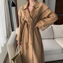 Зимнее пальто для женщин повседневное Элегантное длинное верхняя