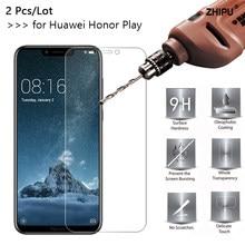 2 pçs 2.5d 0.26mm vidro temperado para huawei honor play honorplay 6.3
