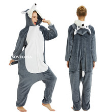 New 2019 Adults Animal Pajamas Sets Winter Flannel Cartoon Sleepwear Unicorn Kigurumi Unicornio Panda Wholesale