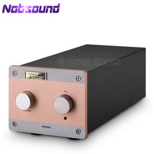 Nobsound EAR834 ملليمتر (تتحرك المغناطيس)/MC (تتحرك لفائف) RIAA JJ 12AX7 أنبوب فونو المرحلة الدوار Preamp HiFi ستيريو قبل مكبر للصوت