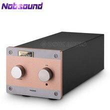 Nobsound ear834 mm (ímã em movimento)/mc (bobina em movimento) riaa jj 12ax7 tubo phono fase giratória pré amplificador estéreo de alta fidelidade