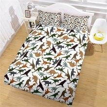 Pillowcase Dinosaur Bedroom Jurassic Bedding-Set Duvet-Cover Microfiber-Fabric Printing